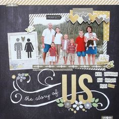 The Story Of Us...great family album title page.