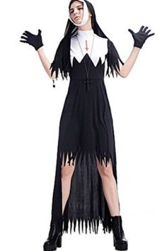 759e8bad979 Womens Dreadful Zombie Nuns Costume Halloween Cosplay Fancy Dress Tag a  friend who can pull this