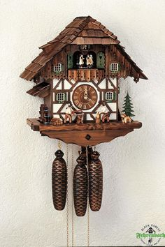 Black Forest Cuckoo Clocks | Home / Chalet Cuckoo Clock Black Forest House With Wood Cutters