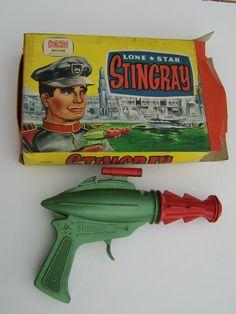 Vintage Rare Lone Star Gerry Anderson Die-cast Stingray Toy Cap Gun Z Retro Robot, Retro Toys, Vintage Toys, Vintage Space, Childhood Toys, Childhood Memories, 1960s Toys, 1980s, Space Toys