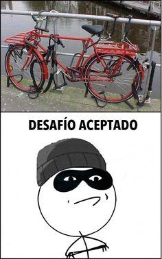 Bicicleta anti-ladrones: desafío aceptado.