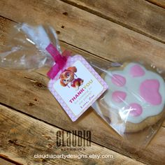 Paw Patrol Skye Thank you Tags Skye Favor by ClaudiaPartyDesigns
