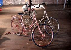 Copper and brass bikes by Bart van Heesch