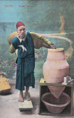 Egypt, Cairo. Water Seller  (Postcard)