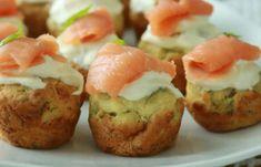 Mini-muffins au saumon fumé avec Thermomix, recette de délicieux petites bouchées au saumon, faciles et simples à réaliser, parfaites à servir en apéritif ou en entrée.
