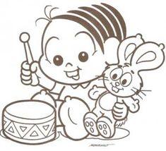 Desenhos Turma da Mônica Baby para colorir