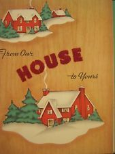 Image result for 1950s houses and mailboxes christmas cards