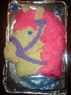 Horse buttercream cake
