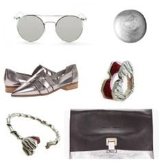 Top to Bottom: •Elton sunglasses •Metalic Polish •Chinese Laundry Outcast Metalic Silver Glass • Pym Jewellery Mystery Love Ring and Bracelet •Proenza Schoulder small bag & metalic silver leather lunch bag cluth. #pymjewellery #proenzaschoulder #elton #fashion #jewellery #metalic #silver #glitter #brand #highbrand  Contact: E: pymjewellery@hotmail.com LineID: pymjewellery IG: pymjewellery