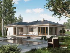 Projekt domu, duże okna