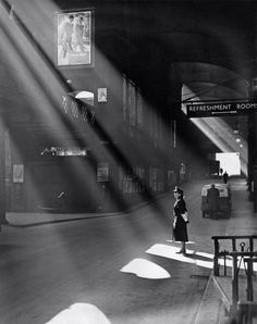 Liverpool Street Station as it looked in 1952, by Harry Todd