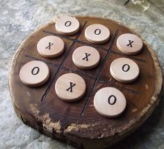 Wood TicTacToe Game  EcoFriendly Wooden Game by ARemarkYouMade, $14.95