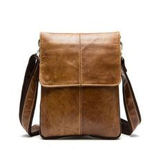 Franco - Genuine Leather Shoulder Crossbody Bag Men