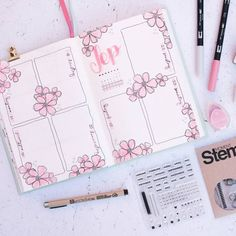 [Werbung] 🌸 Since the autumn is not my season, I& looking forward to natu . - [Advertisement] 🌸 Since autumn is not my season, of course I& happy about the summer weath - Bullet Journal Mise En Page, Planner Bullet Journal, Bullet Journal Banner, Bullet Journal Notebook, Bullet Journal Spread, Bullet Journal Ideas Pages, Bullet Journal Layout, Bullet Journal Inspiration, Book Journal