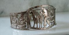 Ethnic Story Telling Panel Bracelet Vintage by SaleOfEstates, $52.00