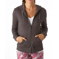 4380d41bc6 PACT   Women s Fair Trade Organic Cotton Full Zip Charcoal Hoodie Brown And  Grey