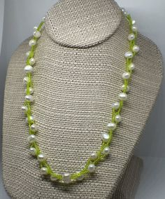 Lily of the Valley Inspired Necklace by JJonesJewelry on Etsy