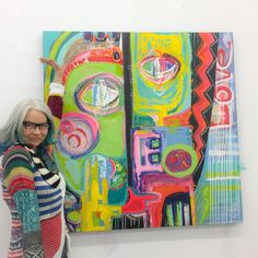Happy Thanksgiving! My daughter loved that my sweater matched my new painting...so she shot the photo! Lol