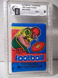 1979 Topps NFL Football Wax Pack GAI Mint 9 Possible Earl Campbell Rookie Card #NFLCollectible