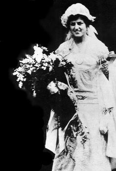 Rose Fitzgerald Kennedy on her wedding day.  I read her book, ROSE, when it came out decades ago, I really enjoyed it.
