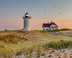 A late summer evening at the historic Race Point Light, Provincetown MA.Race Point Light was added to the National Register of Historic Places on June 15, 1987