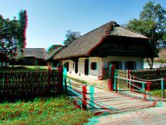 Zalagerszeg-Skanzen 3d Photo, Photo Art, Hungary, Cabin, House Styles, Red, Home Decor, Decoration Home, Room Decor