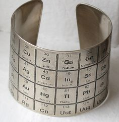 Periodic Table Silver Bracelet Jewelry Bracelets, Diy Jewelry, Bangles, Jewelry Accessories, Lee Ann, Armband, Periodic Table, Science Jewelry, Geek Chic