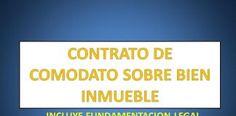CONTRATO DE COMODATO SOBRE BIEN INMUEBLE
