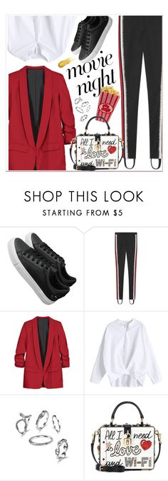 """""""Bring the Popcorn: Movie Night"""" by zaful ❤ liked on Polyvore featuring Gucci and Dolce&Gabbana"""