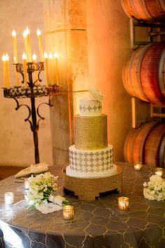 Mixed metallics- wedding cake
