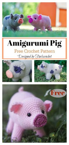Easy Crochet Patterns Amigurumi Mini Pig Free Crochet Pattern - This beginner friendly Amigurumi Mini Pig Free Crochet Pattern will show you how to make your very own cute crochet pig toy. Crochet Pig, Crochet Afghans, Crochet Mignon, Crochet Gratis, Cute Crochet, Crochet Dolls, Crochet Dragon, Ravelry Crochet, Chrochet