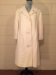 Vintage 1960's Coat Wool Boucle Ivory Cream Off White https://www.etsy.com/listing/264340544/vintage-1960s-coat-wool-boucle-ivory?utm_source=socialpilotco&utm_medium=api&utm_campaign=api  #1960s #coat