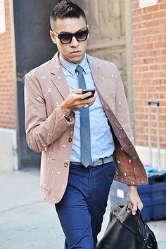 New York Fashion Week Street Style: Menswear #sunglasses