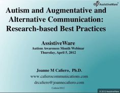 Video of the Week: AAC and ASD with Dr. Joanne Cafiero