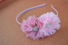 Pink Tones Shabby Chic Flowers Head Band  by Michellahairclips, $9.99