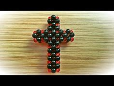 How to make a cross made ​​of beads