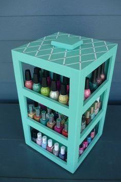 20 Formas de organizar tus esmaltes con estilo