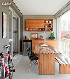 fall home decor Studio Apartment Design, Small Apartment Interior, Small Balcony Design, Small Balcony Decor, Sweet Home, Porche, Dining Table Design, Kitchen Sets, Interior Design Kitchen