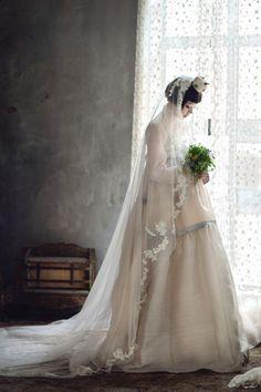 hanbok inspired wedding dress