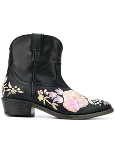 Black leather Camperos cowboy boots - click to buy (this pin contains an affiliate link)