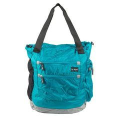 Boken Every Day Diaper Bag in Aqua - doubles as a back pack. Like that! ~$65.