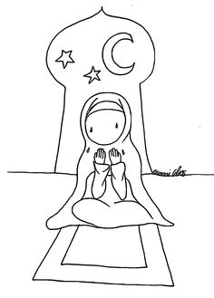 Girl making doa colouring page Eid Crafts, Ramadan Crafts, Islamic Gifts, Islamic Art, Ramadan Activities, Activities For Kids, Colouring Pages, Coloring Books, Funny Emoji Faces