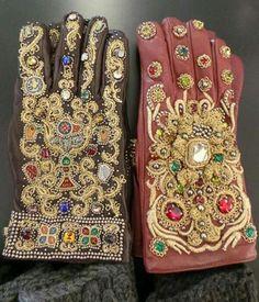 Dolce & Gabbana AW 2014-15 gloves. , #embellishment