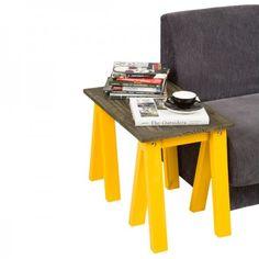 Mesinha de Cavaletes Demolição e Amarelo - Tadah! Design