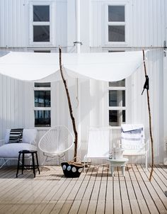 Cheap shade   black & white outdoor inspiration by the style files, via Flickr