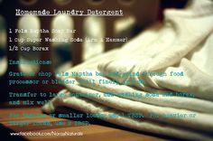 Nora's Naturals   DIY Homemade Laundry Detergent #diylaundrydetergent