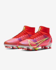 Soccer Boots, Football Boots, Football Stuff, Cute Nike Shoes, Cute Nikes, Nike Cleats, Soccer Cleats, Soccer Training Drills, Superfly