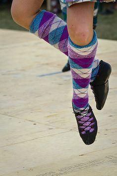 This is my tartan, but my socks have split diamonds