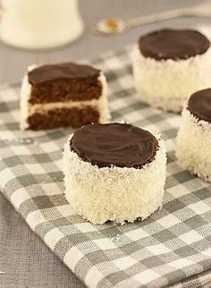 "Ruske kape - šubare / ""Russian hats"" - buttercream mini cakes with coconut   Sweet cornerSweet corner"