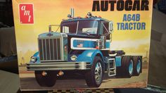 AMT 1/25 AUTOCAR A64B SEMI TRUCK TRACTOR OPEN KIT..FOUND IN STORAGE #AMT
